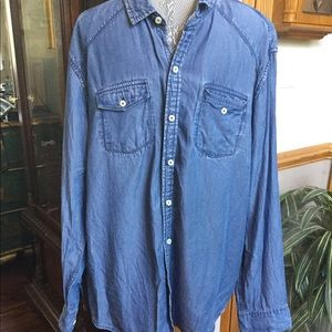 Men's denim look shirt